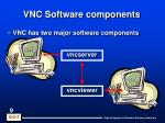 vnc software components