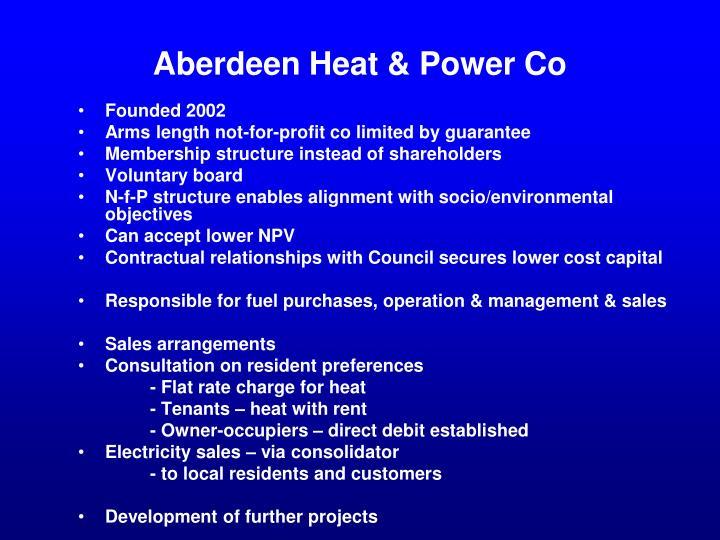 Aberdeen Heat & Power Co