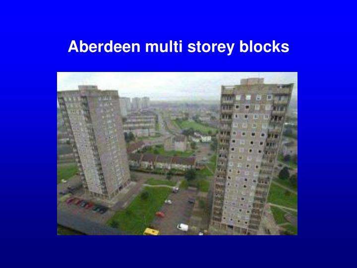 Aberdeen multi storey blocks