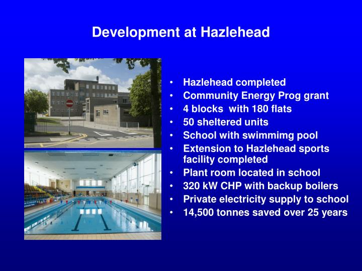 Development at Hazlehead