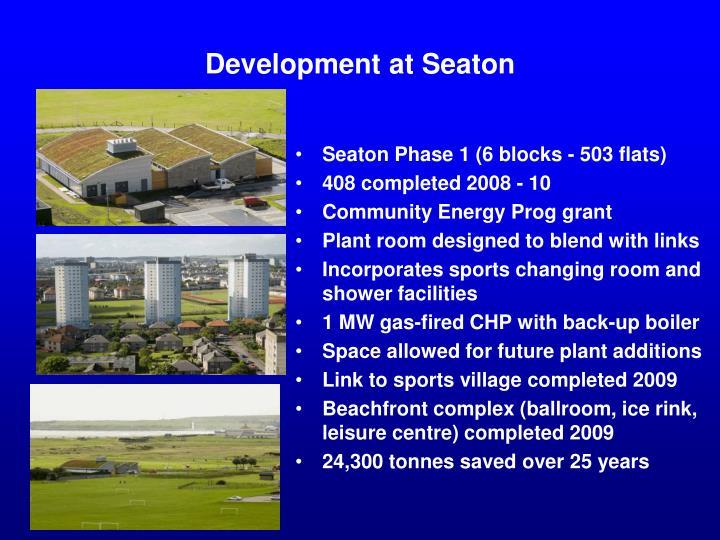 Development at Seaton