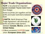 major trade organizations