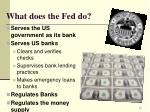 what does the fed do