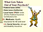 what gets taken out of your paycheck