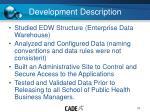 development description