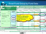 excel fund group by fund data1
