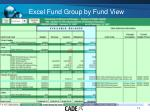 excel fund group by fund view