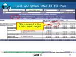 excel fund status detail hr drill down