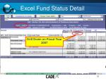 excel fund status detail2
