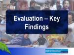 evaluation key findings