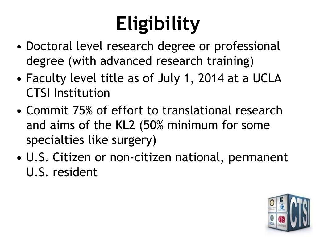 PPT - UCLA CTSI KL2 Translational Science Award PowerPoint