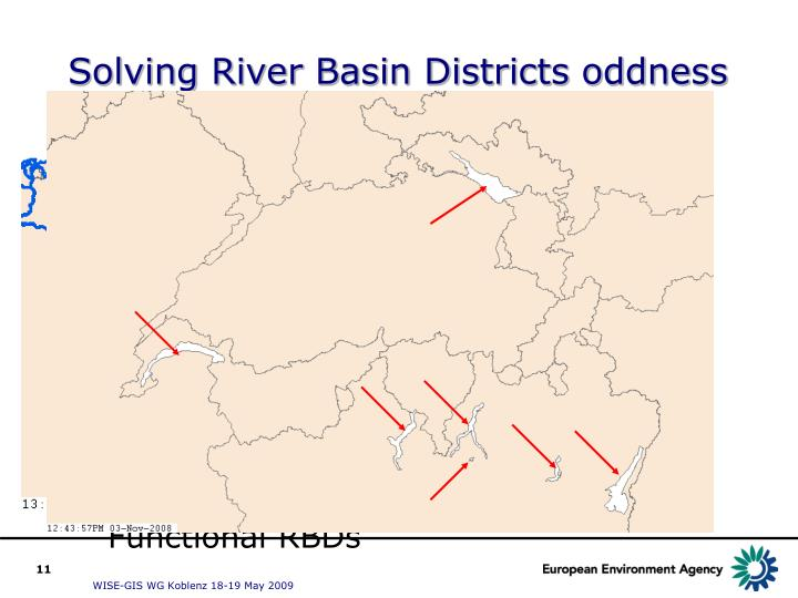 Solving River Basin Districts oddness