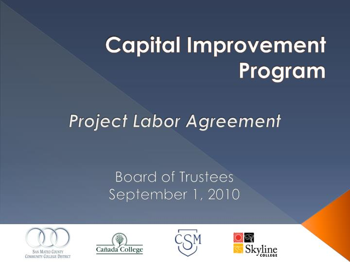 capital improvement program n.