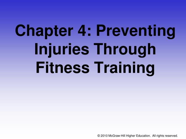 chapter 4 preventing injuries through fitness training n.