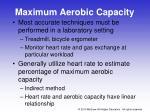 maximum aerobic capacity