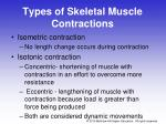 types of skeletal muscle contractions