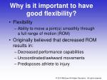 why is it important to have good flexibility