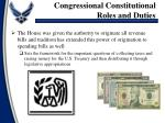 congressional constitutional roles and duties1