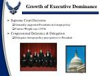 growth of executive dominance1