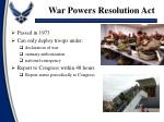 war powers resolution act