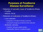 purposes of foodborne disease surveillance