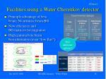 facilities using a water cherenkov detector