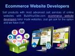 ecommerce website developers