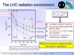 the lhc radiation environment
