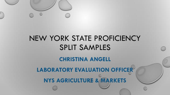 new york state proficiency split samples n.