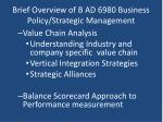 brief overview of b ad 6980 business policy strategic management3