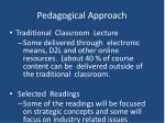 pedagogical approach