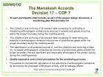 the marrakesh accords decision 17 cop 7