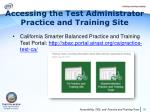 accessing the test administrator practice and training site