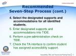 recommended seven step process cont