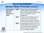 recommended seven step process cont10