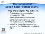 recommended seven step process cont2