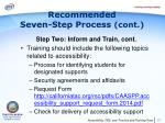 recommended seven step process cont4