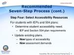 recommended seven step process cont6