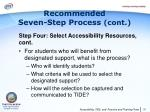 recommended seven step process cont7