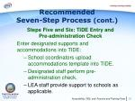 recommended seven step process cont8