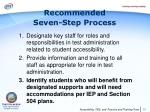 recommended seven step process