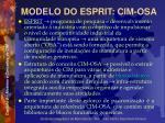 modelo do esprit cim osa