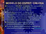 modelo do esprit cim osa7