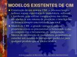 modelos existentes de cim1