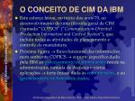 o conceito de cim da ibm1