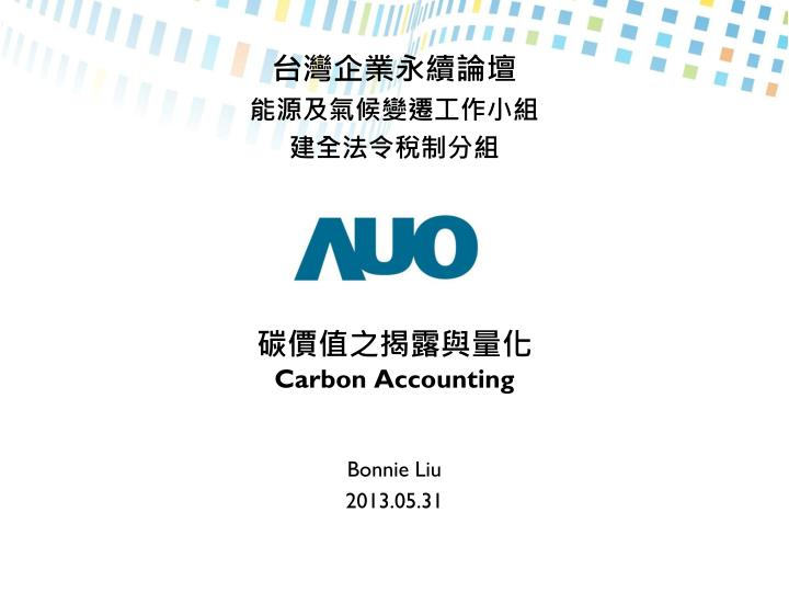 carbon accounting n.