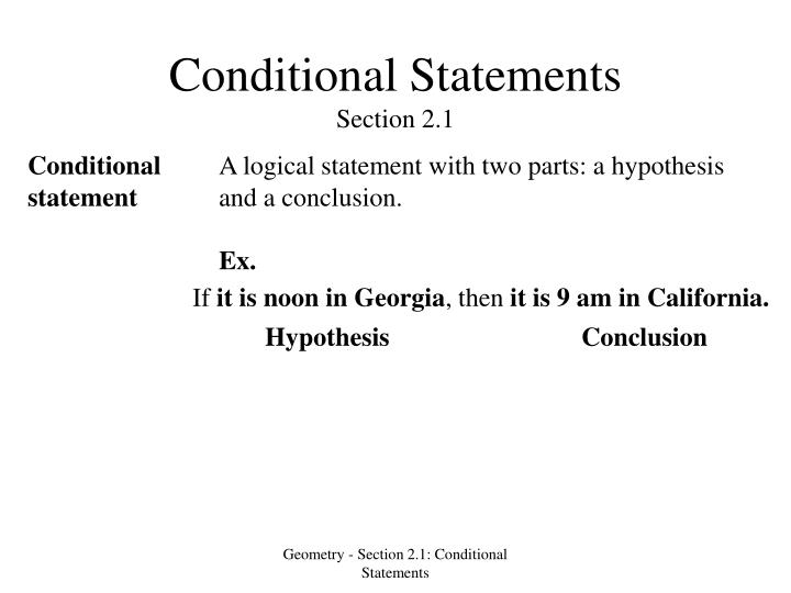 conditional statements section 2 1