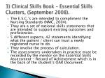 3 clinical skills book essential skills clusters september 2008