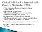 clinical skills book essential skills clusters september 2008