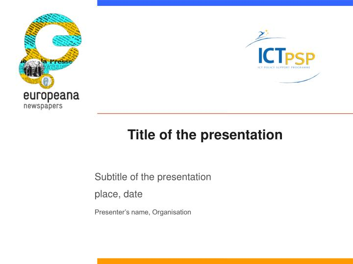 title of the presentation n.